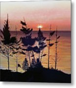 Bay Of Fundy Sunset Metal Print