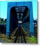 Bay Of Fundy Train Trestle Metal Print