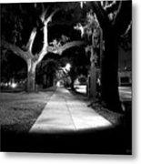Bay Street Midnight Path Metal Print