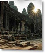 Bayon Temple Metal Print