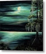 Bayou By Moonlight Metal Print
