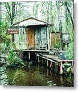 Bayou Cabin Metal Print