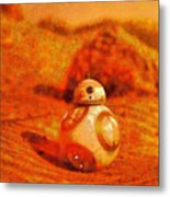 Bb-8 In The Desert - Pa Metal Print