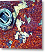 Bbq Pit Abstract Metal Print
