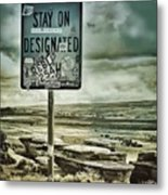 Be A Rebel Metal Print