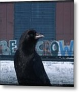 Be Crow Metal Print