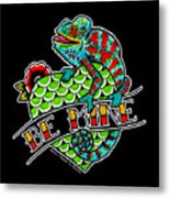 Be Mine Panther Chameleon Metal Print