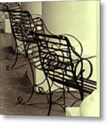 Be Seated Metal Print
