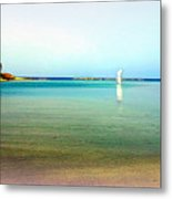 A Perfect Day For A Walk On This Abandoned Beach  Metal Print by Hilde Widerberg