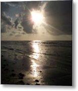 Beach After Sunrise  Metal Print