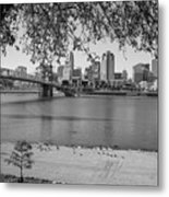 Beach An Cincinnati Skyline  Metal Print