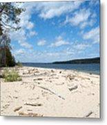 Beach And A Lake Metal Print