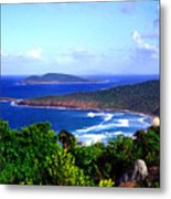 Beach And Cayo Norte From Mount Resaca Metal Print