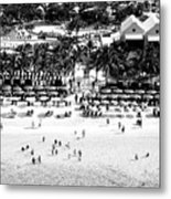Beach At Grand Turk Metal Print