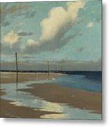 Beach At Low Tide Metal Print