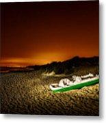 Beach At Night Metal Print