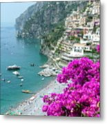 Beach At Positano Metal Print
