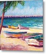 Beach At Progreso Metal Print