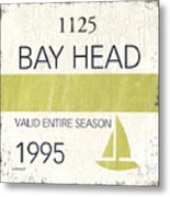 Beach Badge Bay Head Metal Print