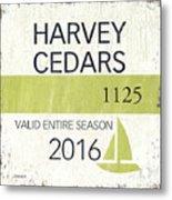 Beach Badge Harvey Cedars Metal Print