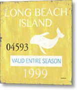 Beach Badge Long Beach Island 2 Metal Print