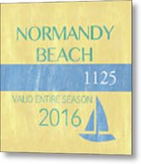 Beach Badge Normandy Beach 2 Metal Print