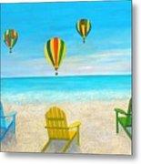 Beach Balloon Festival Metal Print