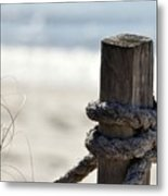Beach Barrier Metal Print