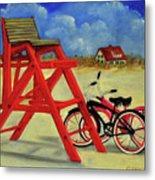 Beach Bikes Metal Print