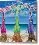 Beach Bliss Buddies Metal Print