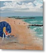 Beach Blond Metal Print