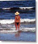 Beach Blonde - Digital Art Metal Print