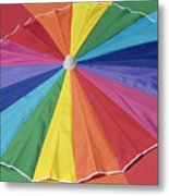 Beach Brolly Metal Print