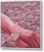 Beach Butterfly Metal Print