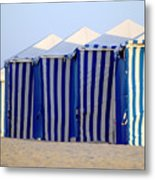Beach Cabanas Metal Print