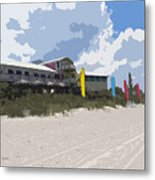 Beach Casino Metal Print