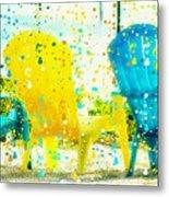 Beach Chair Print Metal Print