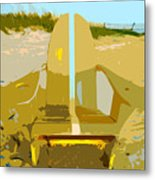 Beach Chair Work Number 3 Metal Print