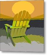 Beach Chair Work Number Seven Metal Print