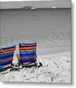 Beach Chairs 2  Metal Print