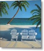 Beach Chairs No. 1 Metal Print
