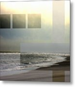 Beach Collage 2 Metal Print