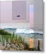 Beach Collage 3 Metal Print