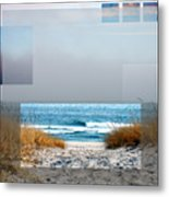 Beach Collage Metal Print