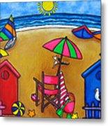 Beach Colours Metal Print