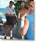 Beach Cops And Christ Metal Print