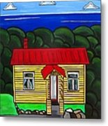 Beach Cottage Metal Print