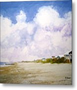 Beach Cottages Metal Print