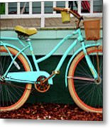 Beach Cruiser Bike Metal Print