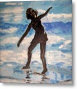 Beach Dancer Metal Print